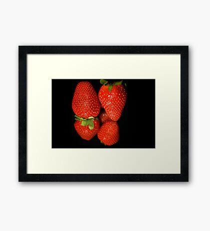Strawberry Reflexion Framed Print