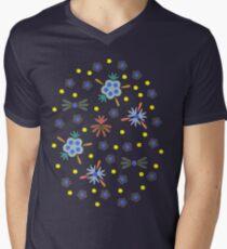 Retro Bloom Men's V-Neck T-Shirt