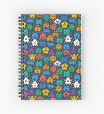 Retro video game monsters pattern Spiral Notebook