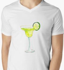 Tropical Margarita Sticker Men's V-Neck T-Shirt