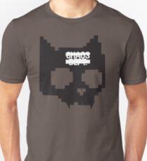 Digital Cat Skull - Black Unisex T-Shirt