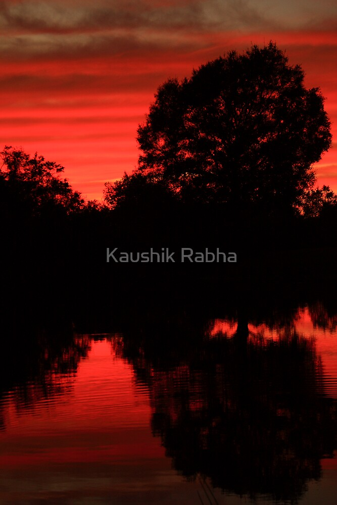 The Evening Colors by Kaushik Rabha