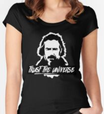 Alan Watts Trust the Universe Women's Fitted Scoop T-Shirt