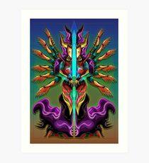 Kwan Yin, Diosa china de la misericordia y el perdón. Art Print