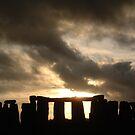 Stonehenge Autumn Sunset by Technohippy