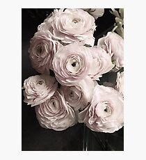 Erröten rosa Rosenblumenstrauß, rosafarbene Blumen Fotodruck