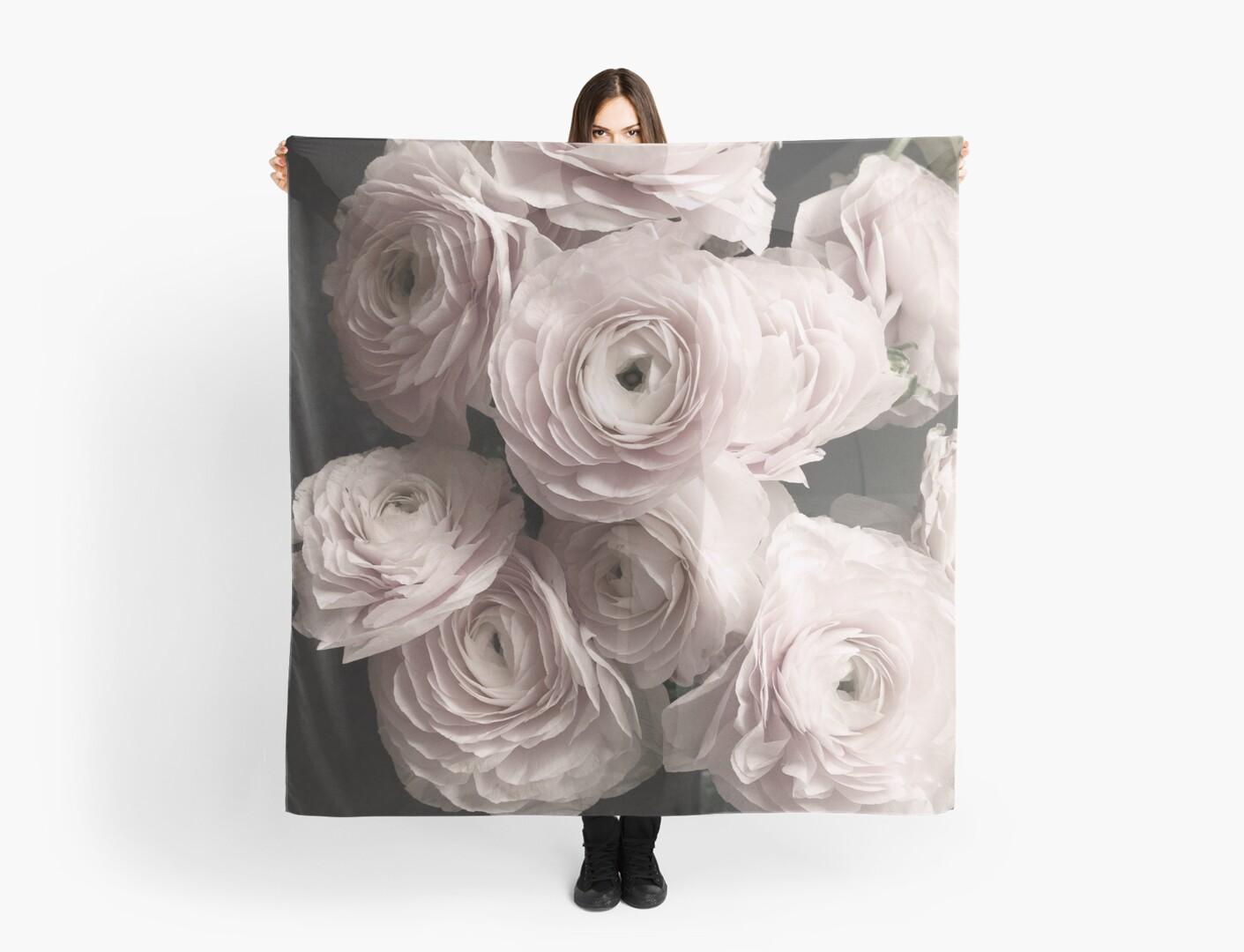 Blush Pink Roses Bouquet Rose Flowers Scarves By Natalie Digital