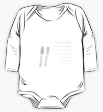 Pink toothbrush, Blue toothbrush One Piece - Long Sleeve