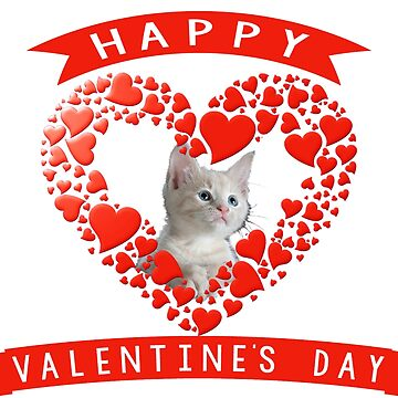 Lovely Cat Happy Valentine's Day by zaysa
