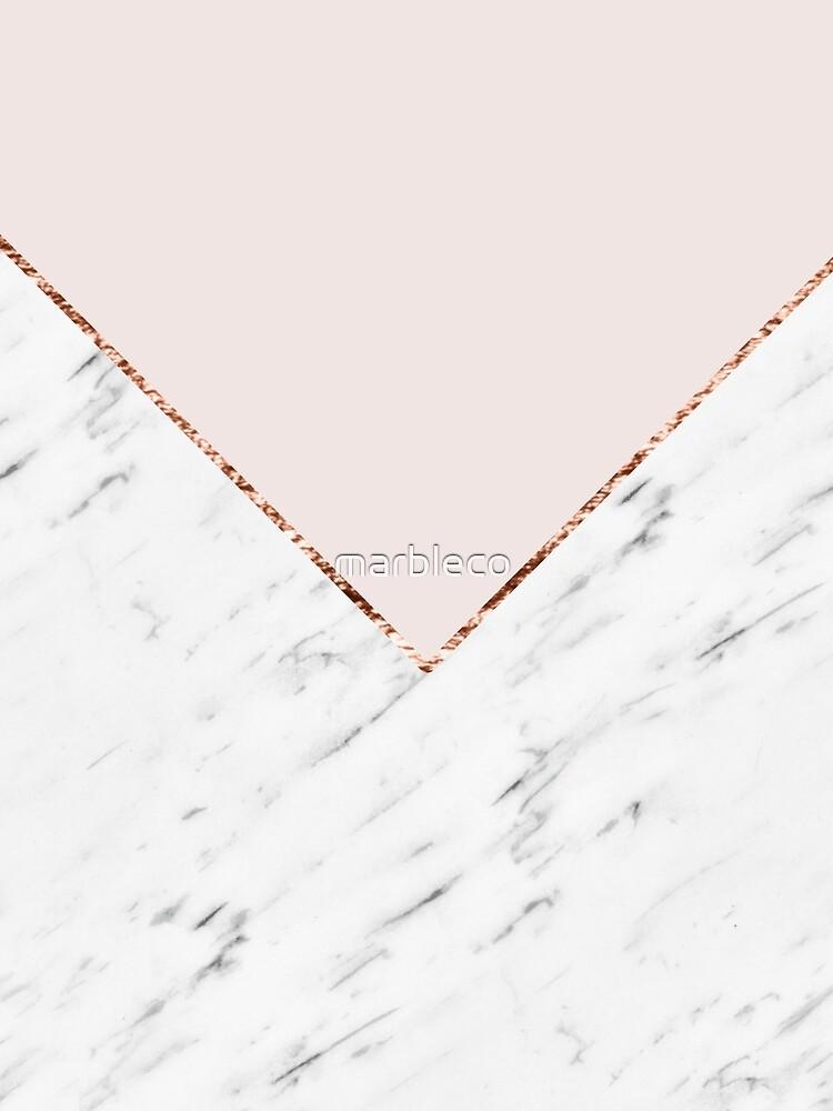 Pfingstrose errötet geometrischen Marmor von marbleco
