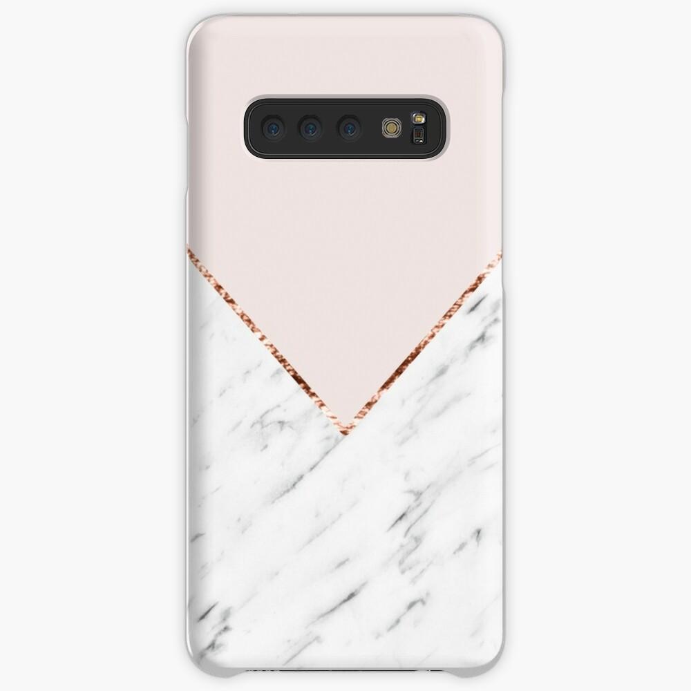 Pfingstrose errötet geometrischen Marmor Hüllen & Klebefolien für Samsung Galaxy