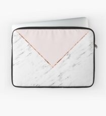 Peony blush geometric marble Laptop Sleeve