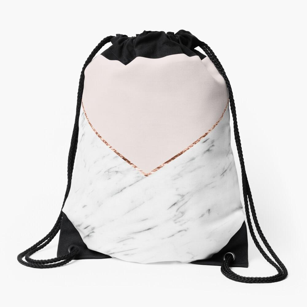 Pfingstrose errötet geometrischen Marmor Turnbeutel