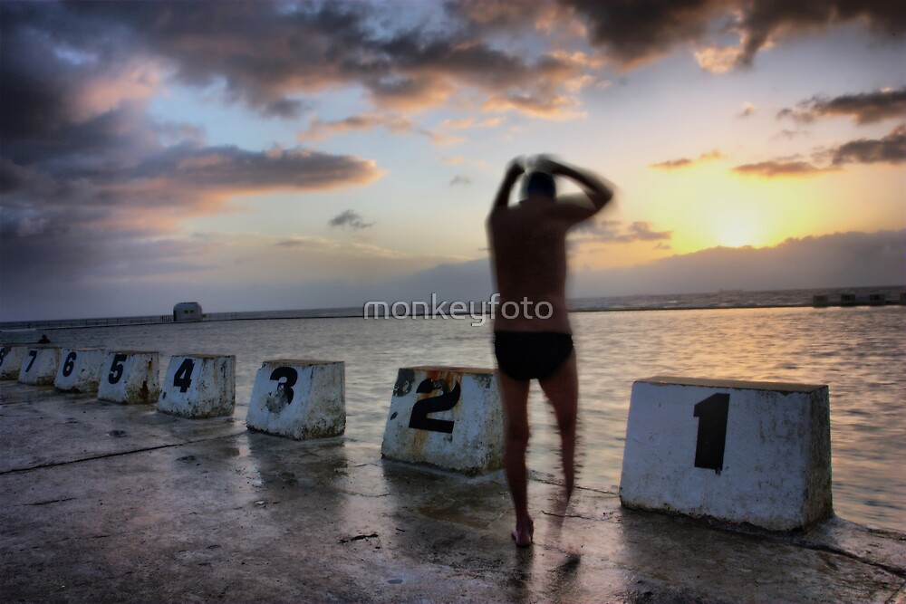 Early Morning Swim  by monkeyfoto