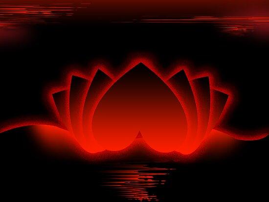 Red Love Lotus by pinak