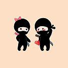 Kleiner Ninja Junge und Mädchen von Natalia Linnik