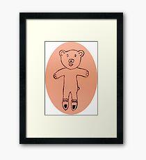 Teddy Bear - Ourson - Martin Boisvert Framed Print