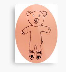 Teddy Bear - Ourson - Martin Boisvert Impression métallique