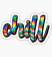 Rainbow Psychedelic Chill Sticker