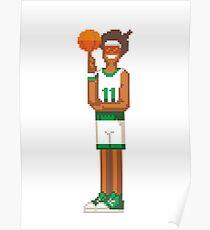 "8-Bit Basketball player ""Paradise"" Poster"