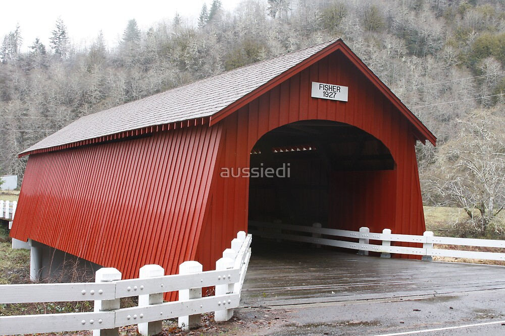 Fisher School covered bridge, Oregon by aussiedi