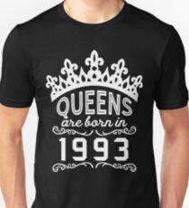 Birthday Girl Shirt - Queens Are Born In 1993 Unisex T-Shirt