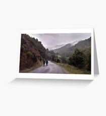 Pilgrims on the Camino de Santiago // Spain Greeting Card