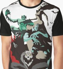evil monsters group poster Graphic T-Shirt