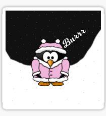 Pink Penguin Sticker Sticker