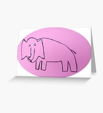 Éléphant - Martin Boisvert Greeting Card