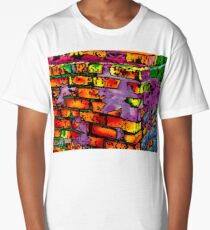 Psychedelic Bricks Long T-Shirt