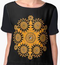 Geometric Mandala Ying Yang Chiffon Top