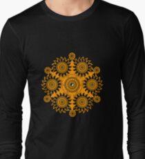 Geometric Mandala Ying Yang Long Sleeve T-Shirt