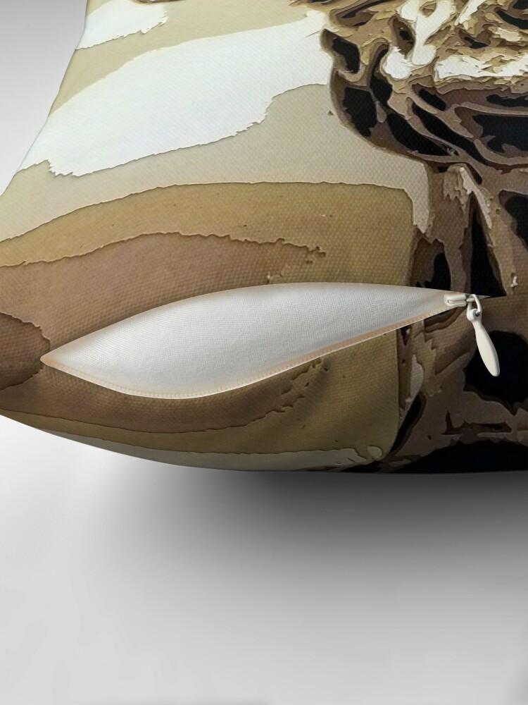 Alternate view of Safari Giraffe Stand Tall Cut Paper Art Throw Pillow