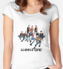 WANNA ONE - GROUP Women's Fitted Scoop T-Shirt