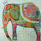 Abstract Elephant painting by Julie Mayo