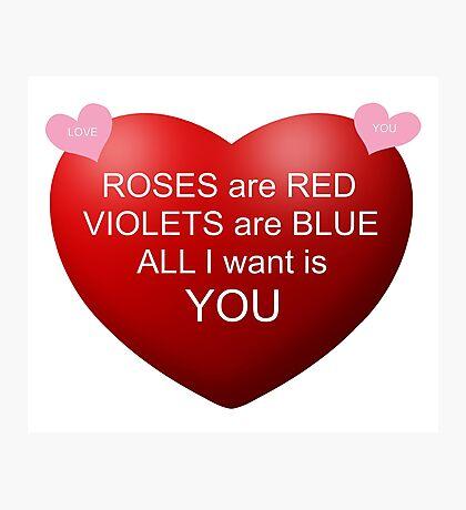 Happy Valentine  Photographic Print
