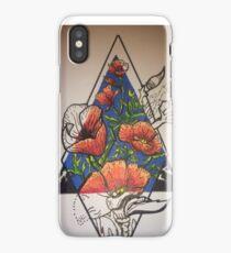 Flowers on the Diamond iPhone Case/Skin
