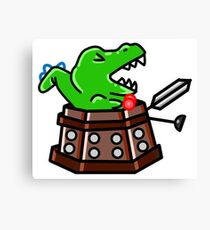 Exterminate! Dinosaur Canvas Print
