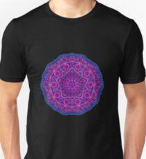 Purple Mandala Geometric Pattern Unisex T-Shirt