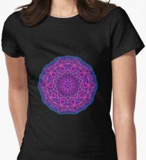 Purple Mandala Geometric Pattern Women's Fitted T-Shirt
