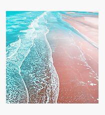 Sea Blue and Rose Gold Photographic Print