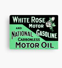 White Rose Gasoline Canvas Print