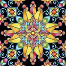 Prismatic Sunburst by PatriciaSheaArt