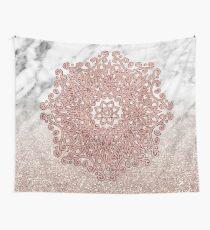 Rose Gold Mandala Marmor Glitter Ombre Wandbehang