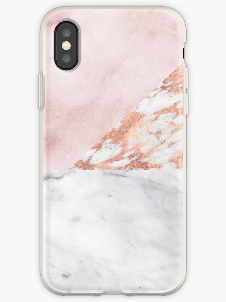 Mixed pinks rose gold marble by peggieprints