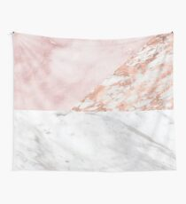 Mixed pinks rose gold marble Wall Tapestry