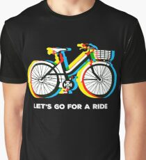 Let's Go for a Ride - Psychedelic Trippy Bicycle Graphic T-Shirt