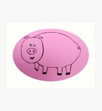 Pig - Cochon - Martin Boisvert Impression artistique
