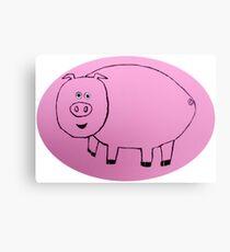 Pig - Cochon - Martin Boisvert Impression sur toile